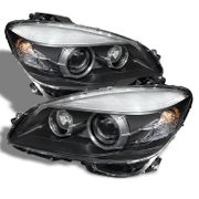 2008-2011 Mercedes Benz C-Class W204 AFS Function Projector Headlights - Black