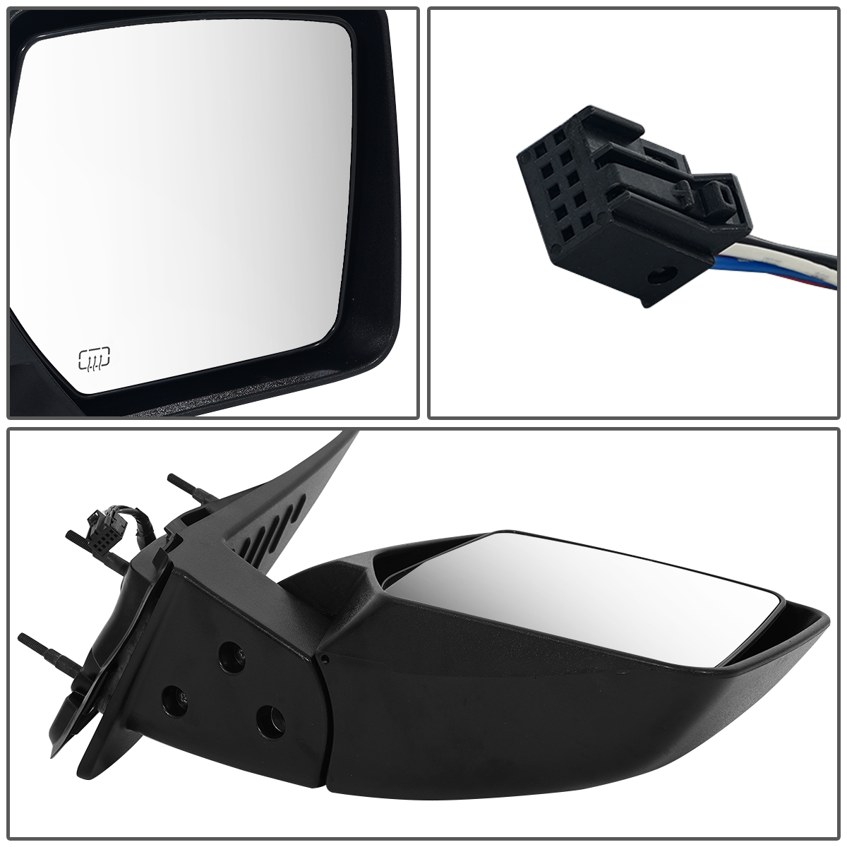 Passenger Side Mirror for SEBRING SDN 07-09 PWR W//O FLD N-HT MIRROR RH | Right Outside Rear View Mirror OE: CH1321316 Parts Link #: 4657002AA PTM