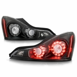 2008-2013 Infiniti G37 / 14-15 Q60 Coupe Factory Style Black Housing LED Tail Lights