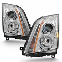 2008-2014 Cadillac CTS [Halogen Model Only] Replacement Projector Headlights - Chrome