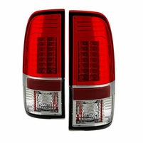 2008-2016 Ford F250 F350 F450 Superduty SD G2 LED Tail Lights - Red Clear