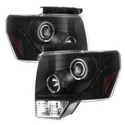 2009-14 Ford F-150 LED DRL Projector Headlights - Black