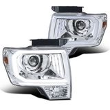 2009-2004 Ford F150 LED DRL Projector Headlights - Chrome