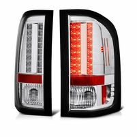 2009-2010 Chevy Silverado Euro Style LED Tail Lights(SMALL REVERSE SOCKET) - Chrome ALT-YD-CS2010-LED-C By Spyder