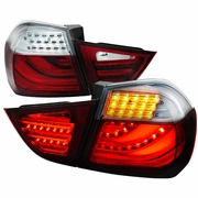 2009-2012 BMW 3-Series E90 Sedan Performance LED Tail Lights - Red Clear