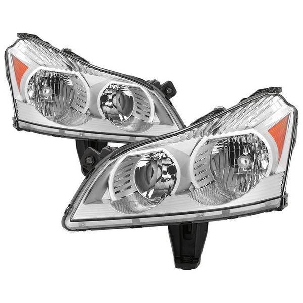 2009-2012 Chevy Traverse LS/LT Chrome Headlights Headlamps Replacement