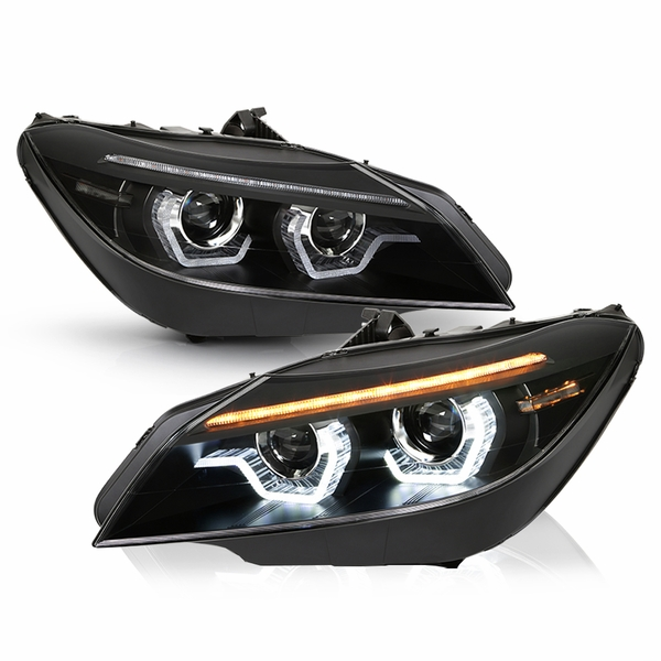 2009-2013 BMW Z4 E89 HID/Xenon AFS Black LED DRL Sequential Projector Headlights