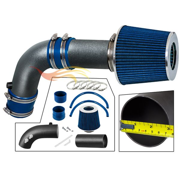 2009-2014 Acura TL Short Ram Intake Black Pipe With Blue Kit