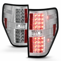 2009-2014 Ford F150 Euro Style LED Tail Lights - Chrome ALT-YD-FF15009-LED-C By Spyder
