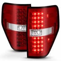 2009-2014 Ford F150 Euro Style LED Tail Lights - Red / Clear ALT-YD-FF15009-LED-RC By Spyder