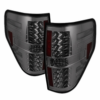 2009-2014 Ford F150 Euro Style LED Tail Lights - Smoke ALT-YD-FF15009-LED-SM By Spyder