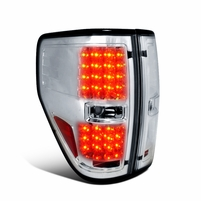 2009-2014 Ford F150 Pickup Performance LED Tail Lights - Chrome