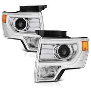2009-2014 Ford F150 Retrofit Style Projector Headlights - Chrome