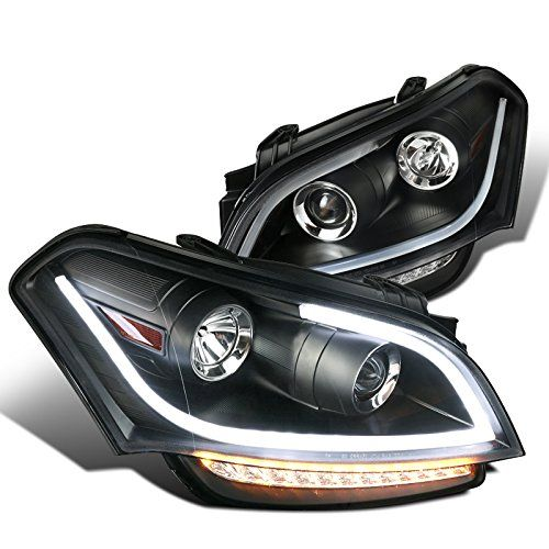 2010-11 KIA Soul LED DRL Strip Projector Headlights - Black