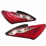 2010-12 Hyundai Genesis Coupe LED-Tube Tail Lights - Red Clear