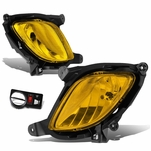 2010-12 Hyundai Genesis Coupe Pair of Bumper Driving Fog Lights w/Switch (Amber Lens)