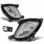 2010-12 Hyundai Genesis Coupe Pair of Bumper Driving Fog Lights w/Switch (Clear Lens)