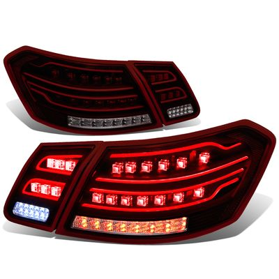 2010-12  Mercedes E-Class / E63 AMG W212 Pair of Red Housing Smoked Lens 3D LED Rear Brake Tail Light