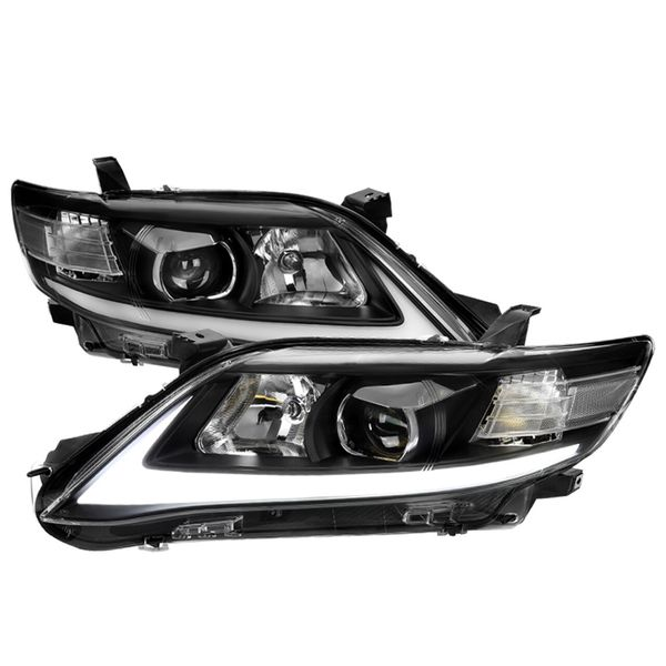 2010-2011 Toyota Camry LED Bar / Sequential Signal Projector Headlights - Black