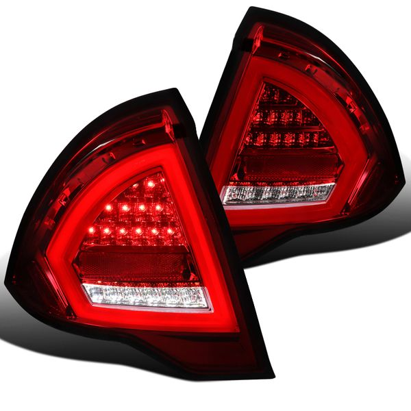 2010-2012 Ford Fusion Optic-Style Full LED Tail Lights - Red