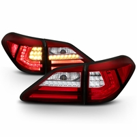 2010-2012 Lexus RX350 LED Tube Tail Lights - Red Clear