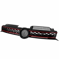 2010-2012 VW GOLF VI BLACK GTI LOOK FRONT ABS GRILL GRILLE