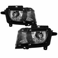 2010-2013 Chevy Camaro [Halogen Model] Replaceemnt Headlights - Black