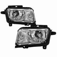 2010-2013 Chevy Camaro [Halogen Model] Replaceemnt Headlights - Chrome