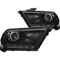 2010-2014 Ford Mustang Black Retrofit Style Projector Headlights
