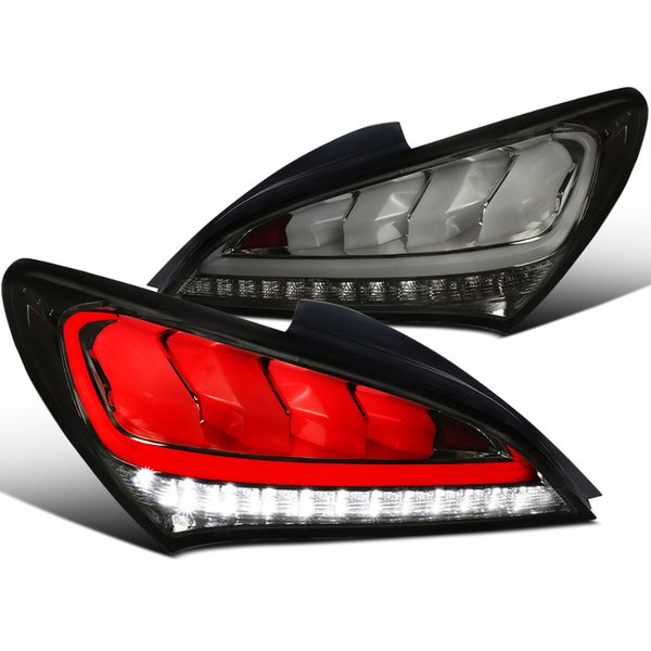 2010-2016 Hyundai Genesis Coupe 2Dr LED Sequential Tail Lights Smoked