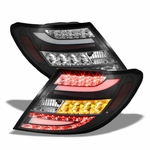 2011-2014 Mercedes Benz W204 C-Class Euro Style LED Tail Lights - Black