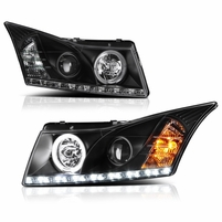 2011-2013 Chevy Cruze Euro Style Projector Headlights - Black