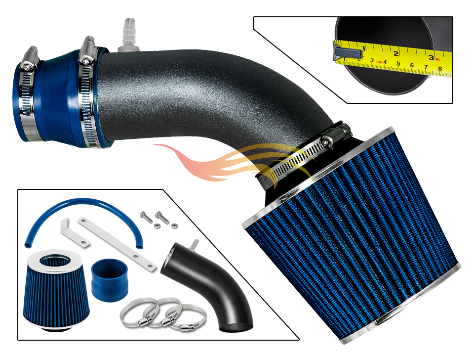 BLUE for 2011-2013 HYUNDAI VELOSTER ACCENT 1.6 1.6L GDI COLD AIR INTAKE KIT