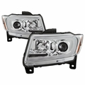 2011-2013 Jeep Grand Cherokee Chrome Switchback LED DRL Sequential Signal Projector Headlights