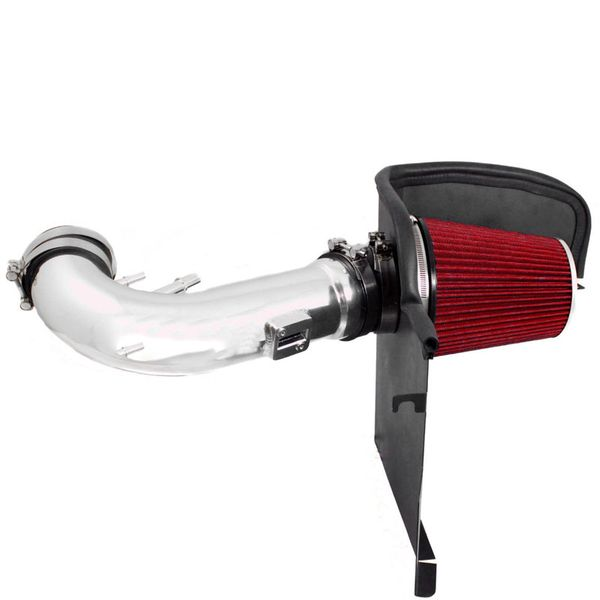 2011-2014 Ford Mustang 5.0 V8 Air Intake + Heat Shield - Red