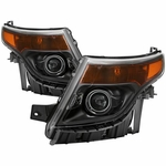 2011-2015 Ford Explorer Halogen Projector Headlights - Black