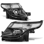 2011-2015 Ford Explorer Replace Projector Headlights - Black Clear