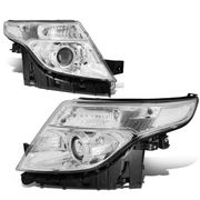 2011-2015 Ford Explorer Replace Projector Headlights - Chrome Clear
