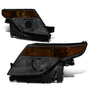 2011-2015 Ford Explorer Replace Projector Headlights - Smoked Amber