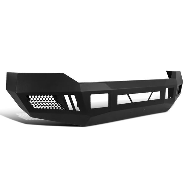 2011-2016 Ford F250 F350 SuperDuty Black Steel Front Bumper Conversion