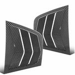 2011-2021 Dodge Charger Carbon Look Side Window Louvers Scoop Cover Vent - 2PC