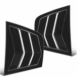 2011-2021 Dodge Charger Glossy Black Side Window Louvers Scoop Cover Vent - 2PC