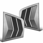 2011-2021 Dodge Charger Matte Black Side Window Louvers Scoop Cover Vent - 2PC