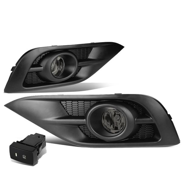 2012-14 Honda CRV RM Front Bumper Driving Fog Lights w/Bezel & Switch (Smoked Lens)