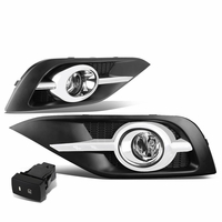 2012-14 Honda CRV RM Pair of Bumper Driving Fog Lights w/Bezel & Switch (Clear Lens)