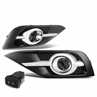 2012-14 Honda CRV RM Pair of Bumper Driving Fog Lights w/Bezel & Switch (Smoked Lens)