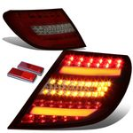 2012-14  Mercedes-Benz Facelifted W204 C-Class AMG Red / Smoked Lens 3D LED Rear Tail Brake + Corner Signal Light