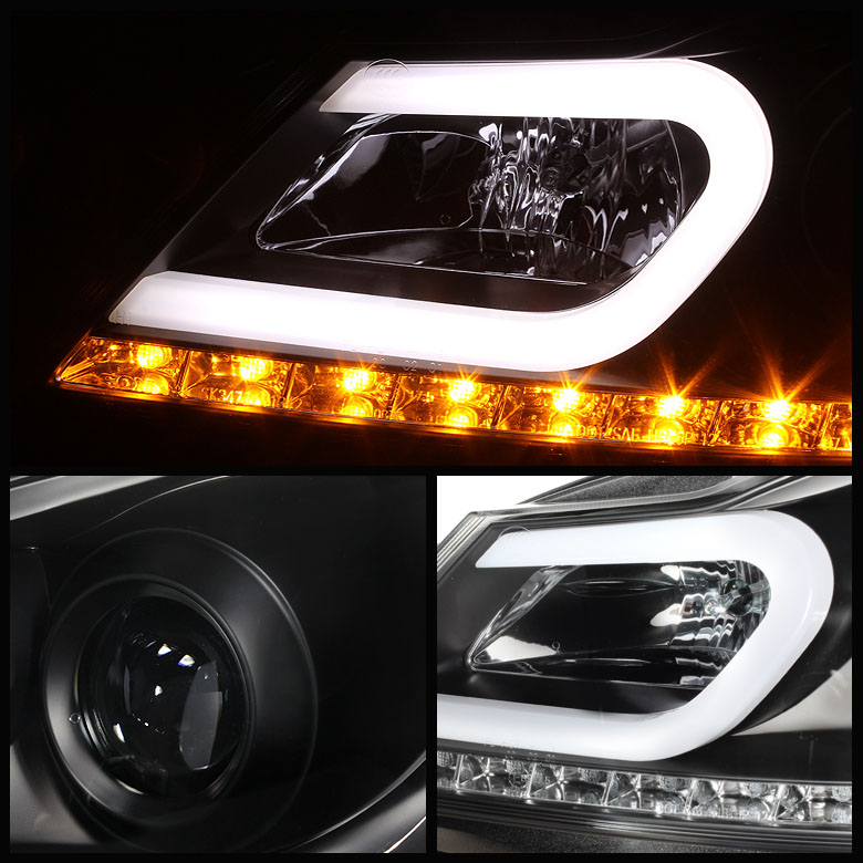 2012-2014 Mercedes Benz W204 C-Class LED DRL Tube Projector