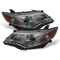 2012-2014 Toyota Camry LED DRL Strip Projector Headlights - Smoked
