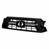 2012-2015 Toyota Tacoma OE Mesh Front Hood Bumper Grill Grille - Black